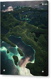 Palau, Micronesia, Aerial View Of Rock Acrylic Print