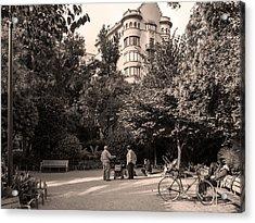 Palau Robert Garden, Barcelona Acrylic Print