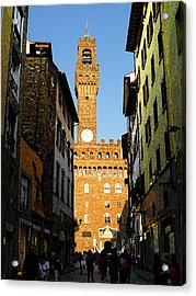 Palazzo Vecchio In Florence Italy Acrylic Print