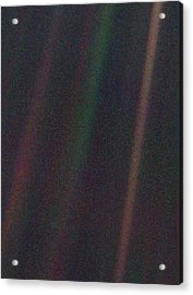 Pale Blue Dot Acrylic Print by Nasa/science Photo Library