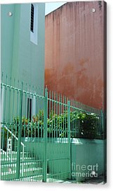Pale Green With Pink Walls Acrylic Print