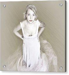Pale Minimalist Bride Acrylic Print