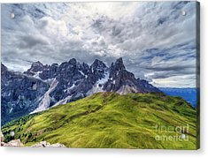 Acrylic Print featuring the photograph Pale San Martino - Hdr by Antonio Scarpi