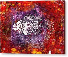 Paleo Fish Acrylic Print by Bellesouth Studio