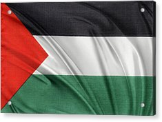 Palestine Flag Acrylic Print by Les Cunliffe