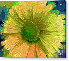 Palette Knife Coneflower Acrylic Print