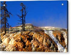 Palette Spring Steam Acrylic Print by Brian Harig