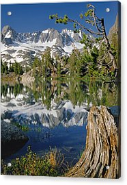 2m6443-v-palisade Peaks And Summit Lake V Acrylic Print