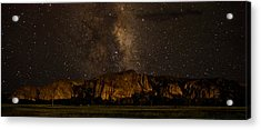 Palisades Under The Cosmos  Acrylic Print by Mike Schmidt