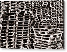 Pallets  Acrylic Print by Olivier Le Queinec