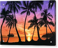 Palm Beach Sundown Acrylic Print by Andrew Farley