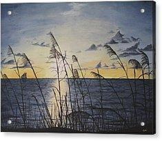Palm Beach Sunrise Acrylic Print by Hilda and Jose Garrancho