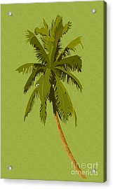 Palm Breeze Acrylic Print by Tina M Wenger