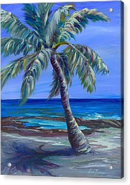 Palm In Paradise Acrylic Print by Lisa Bunge