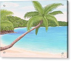 Palm In Paradise Acrylic Print