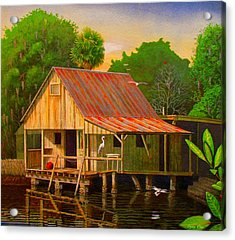 Palm Island Crab House  Acrylic Print by Buzz Coe
