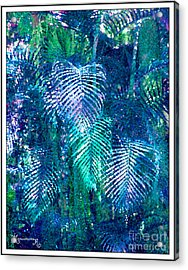 Palm Leaves Acrylic Print by Mariarosa Rockefeller