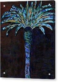 Palm On Purple  Acrylic Print by Oscar Penalber