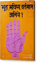 Palm Reading Sign In Rishikesh Acrylic Print