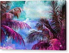 Palmscape Paradise Acrylic Print by Laura Fasulo