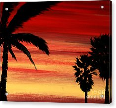 Palm Set Acrylic Print by Ryan Burton