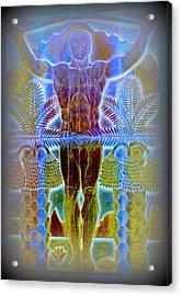 Palm Springs Mural Three Acrylic Print by Randall Weidner