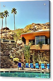 Palm Springs Pool Acrylic Print