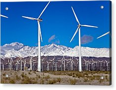 Palm Springs Snow Covered Mountains Acrylic Print