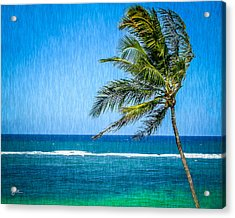 Palm Tree Swaying Acrylic Print by TK Goforth