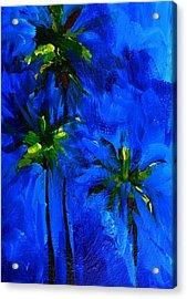 Palm Trees Abstract Acrylic Print by Patricia Awapara