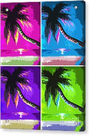 Palm Trees By Shawna Erback Acrylic Print by Shawna Erback