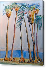 Palm Trees Acrylic Print by Esther Newman-Cohen