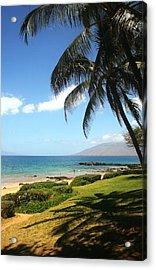 Palm Trees On A Maui Beach Acrylic Print