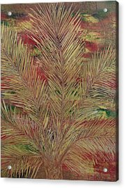 Acrylic Print featuring the painting Palme by Nico Bielow