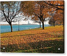 Palmer Park In The Fall Acrylic Print