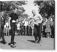 Palmer, Player And Nicklaus Acrylic Print by Underwood Archives