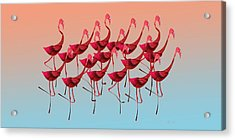 Palmingos Acrylic Print