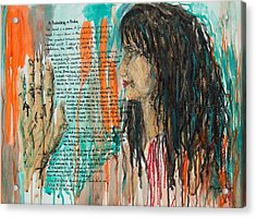 Palmistry A Psalm Acrylic Print by Brenda Clews