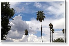 Palms And Clouds Acrylic Print by Glenn McCarthy Art and Photography