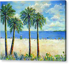 Palms On Siesta Key Beach Acrylic Print