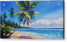 Palms On Tortola Acrylic Print by John Clark