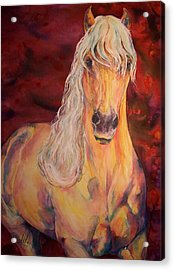Acrylic Print featuring the painting Palomino Ruby  by Christy  Freeman