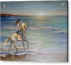 Palomino Sunrise Acrylic Print by Dina Dargo