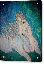 Acrylic Print featuring the painting Palomino Thunder by Ella Kaye Dickey