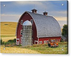 Palouse Barn - Est. 1919 Acrylic Print by Mark Kiver