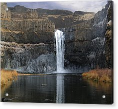 Acrylic Print featuring the photograph Palouse Falls In The Winter by Farol Tomson