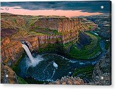 Palouse Falls Sunset Acrylic Print by Dan Mihai