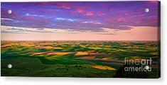 Palouse Land And Sky Acrylic Print by Inge Johnsson