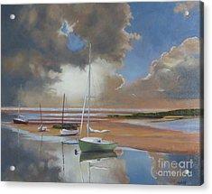 Pamet Harbor Inlet Acrylic Print by Karol Wyckoff