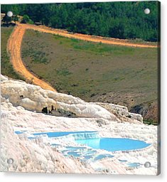 Acrylic Print featuring the photograph Pamukkale by Julia Ivanovna Willhite